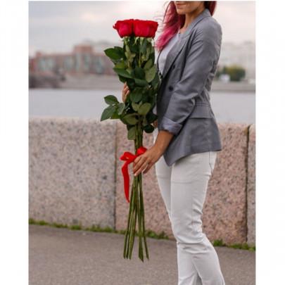 5 Красных Роз (100 см.)