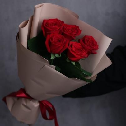 5 Красных Роз (50 см.)