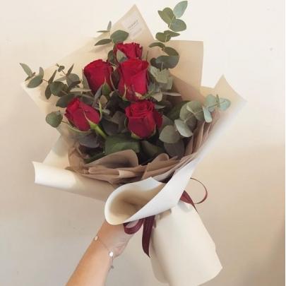 5 Красных Роз (60 см.)