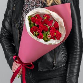 5 Кустовых Красных Роз (50 см.) фото
