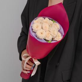 5 Кустовых Кремовых Роз (50 см.) фото