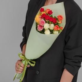 5 Кустовых Роз Микс (50 см.) фото