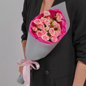 5 Кустовых Розовых Роз (50 см.) фото
