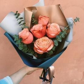 5 Оранжевых Роз (70/80 см.)