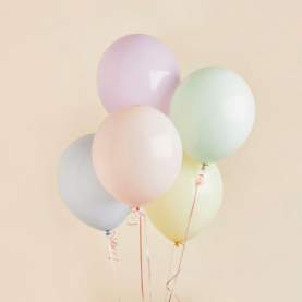 5 Пастельных Цветных Воздушных Шаров фото