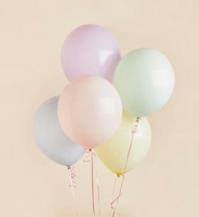 5 Пастельных Цветных Воздушных Шаров