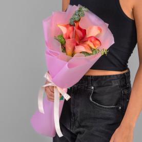 5 Розовых Калл фото