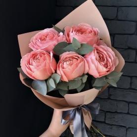 5 Розовых Роз Эквадор (50/60 см.) фото