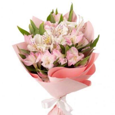 5 Розовых Альстромерий фото