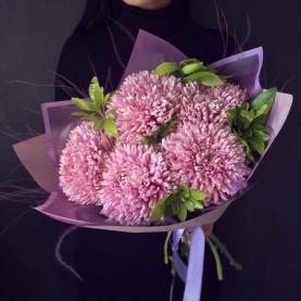 5 Розовых Хризантем фото