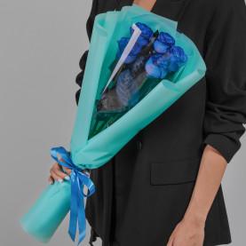 5 Синих Роз (70 см.) фото