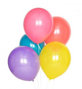 5 Ярких Цветных Воздушных Шаров