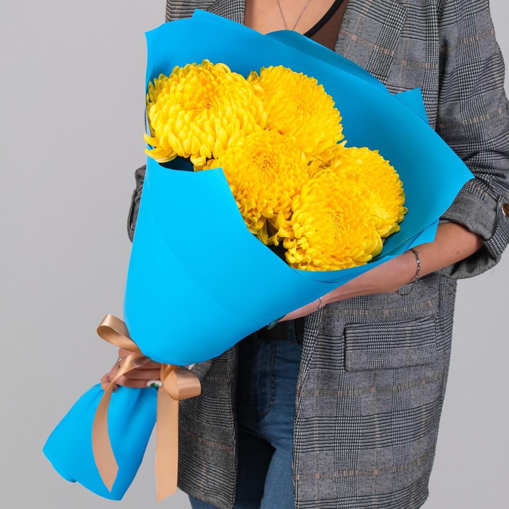 5 Желтых Хризантем Бигуди фото