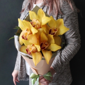 5 Желтых Орхидей фото