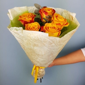 5 Желтых Роз Эквадор (50/60 см.) фото