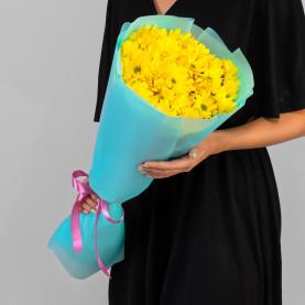 5 Жёлтых Кустовых Хризантем Ромашка фото