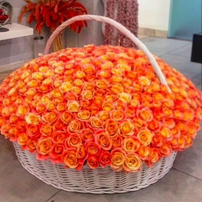 501 Оранжевая Роза (40 см.) фото