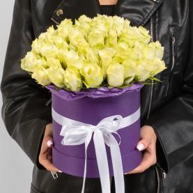 51 Белая Роза (40 см.) в коробке фото