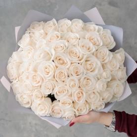 51 Белая Роза Premium (50/60 см.) фото