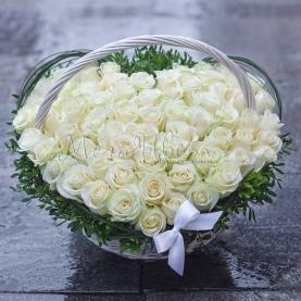51 Белая Роза сердце фото