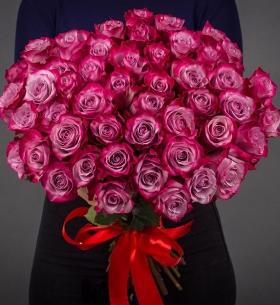 51 Фиолетовая Роза Эквадор (70/80 см.) фото