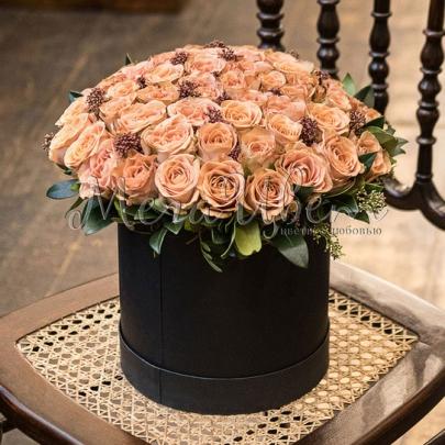 51 Кофейная Роза в коробке фото