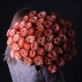 51 Коралловая Роза Эквадор (50/60 см.) фото