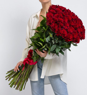 51 Красная Роза (100 см.) фото