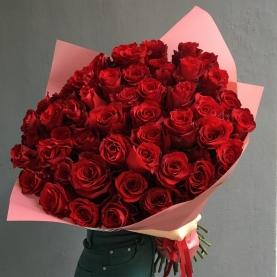 51 Красная Роза Эквадор (50/60 см.) фото