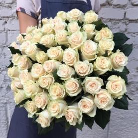 51 Кремовая Роза Эквадор (60/70 см.) фото