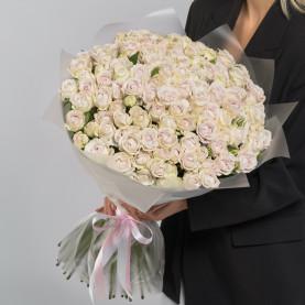 51 Кустовая Пионовидная Сиреневая Роза (50 см.) фото