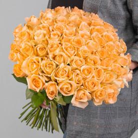 51 Персиковая Роза (50 см.) фото