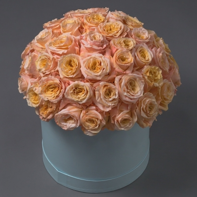 51 Пионовидная Роза в коробке (50/60 см.) фото