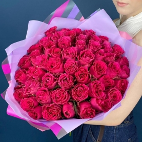51 Pink Rodos Роза (50/60 см.) фото