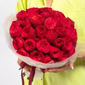 51 Пионовидная Красная Роза (40 см.) фото