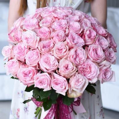 51 Роза Pink Ohara (50 см.) фото