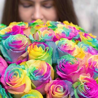 51 Роза радужная фото