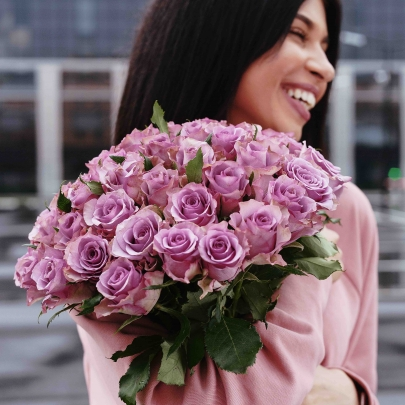 51 Роза сиреневая (40 см.) фото