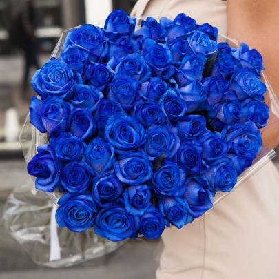 51 Синяя Роза (60 см.) фото