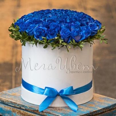 51 Синяя Роза В Коробке Premium фото