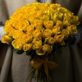 49 Желтых Роз (40 см.) фото