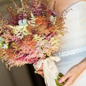 """Букет Невесты """"55 Разноцветных Астильб"""" фото"""