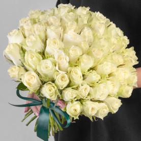 55 Белых Роз (40 см.) фото