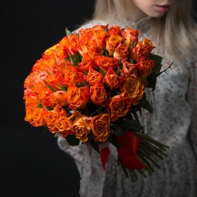 55 Оранжевых Роз фото