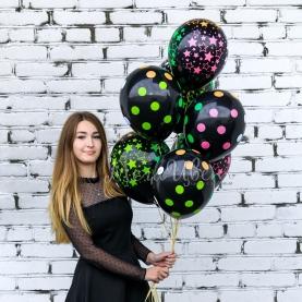 7 черных воздушных шаров фото