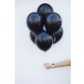 7 Черных Воздушных Шаров (Латекс) фото