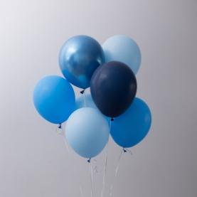 7 Голубых Воздушных Шаров фото