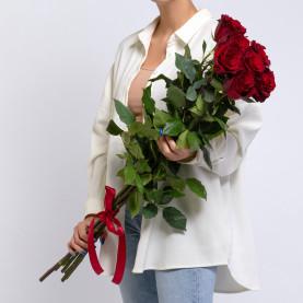 7 Красных Роз (100 см.) фото