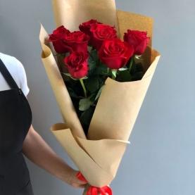 7 Красных Роз Премиум (70/80 см.) фото