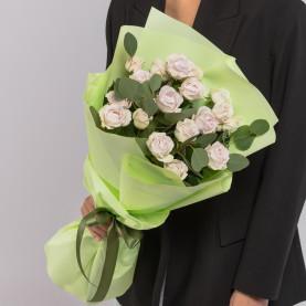 7 Кустовых Пионовидных Сиреневых Роз (50 см.) фото